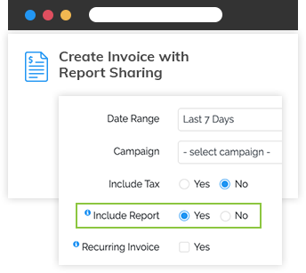Report Sharing & Invoicing